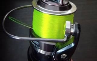 Как привязать шнур к катушке спиннинга