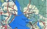 Карта глубин озера сенеж