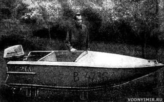 Мини лодка своими руками