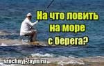 Как ловить рыбу на море с берега