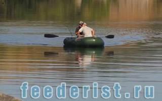 Ловля леща на фидер с лодки