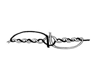 Как привязать поводок к плетенке