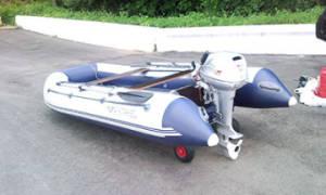 Съемные транцевые колеса для лодки пвх