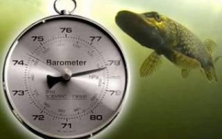 При каком давлении рыба не клюет